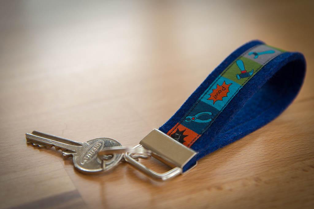Schlüsselband dunkelblau