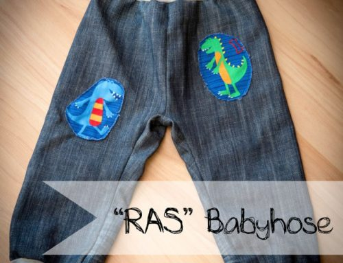 """Upcycling: Aus alter Jeans wird Babyjeans """"RAS"""""""