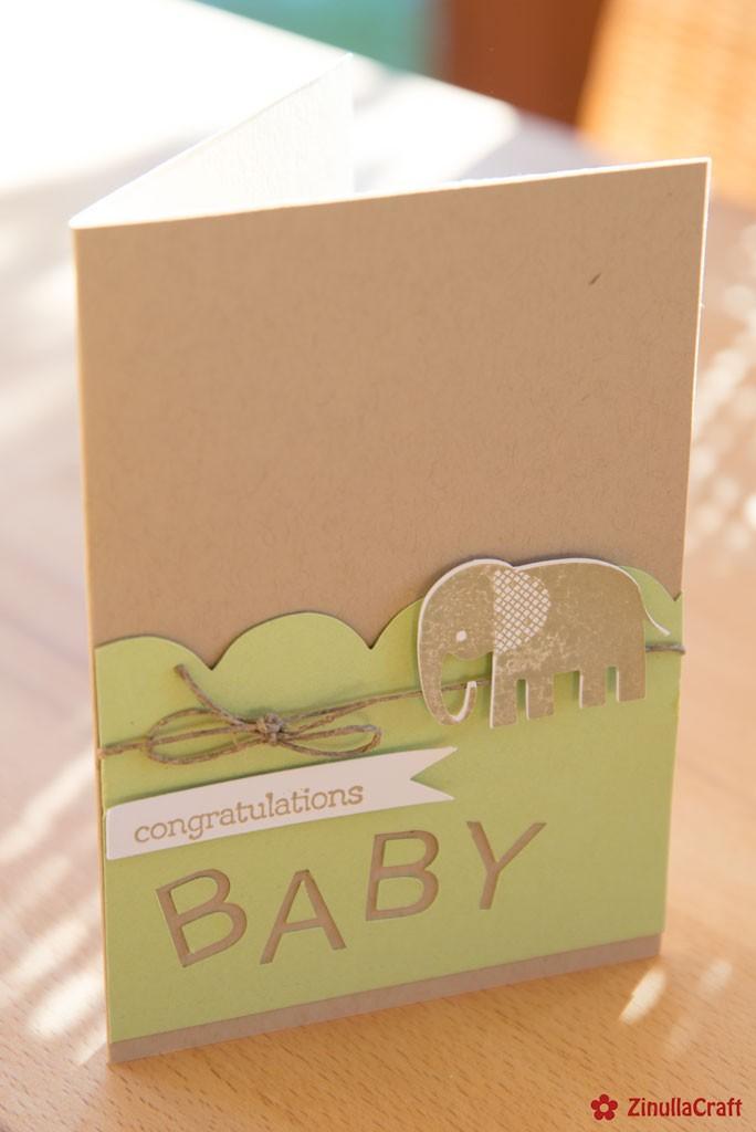 Baby-Karte aus dem Plotter