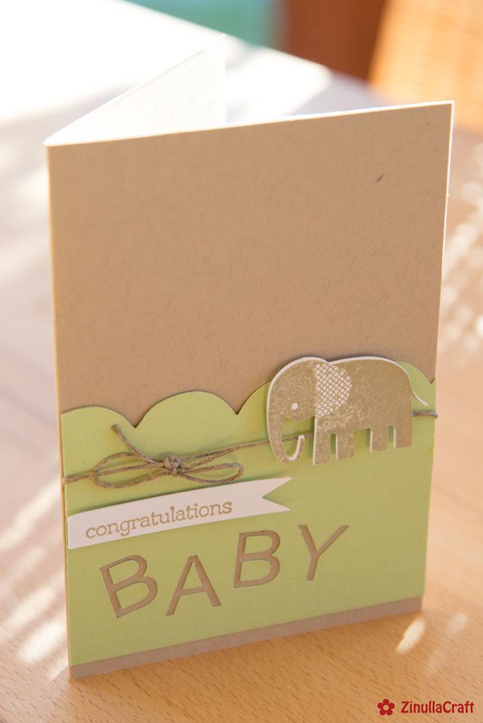 Babykarte aus dem Plotter