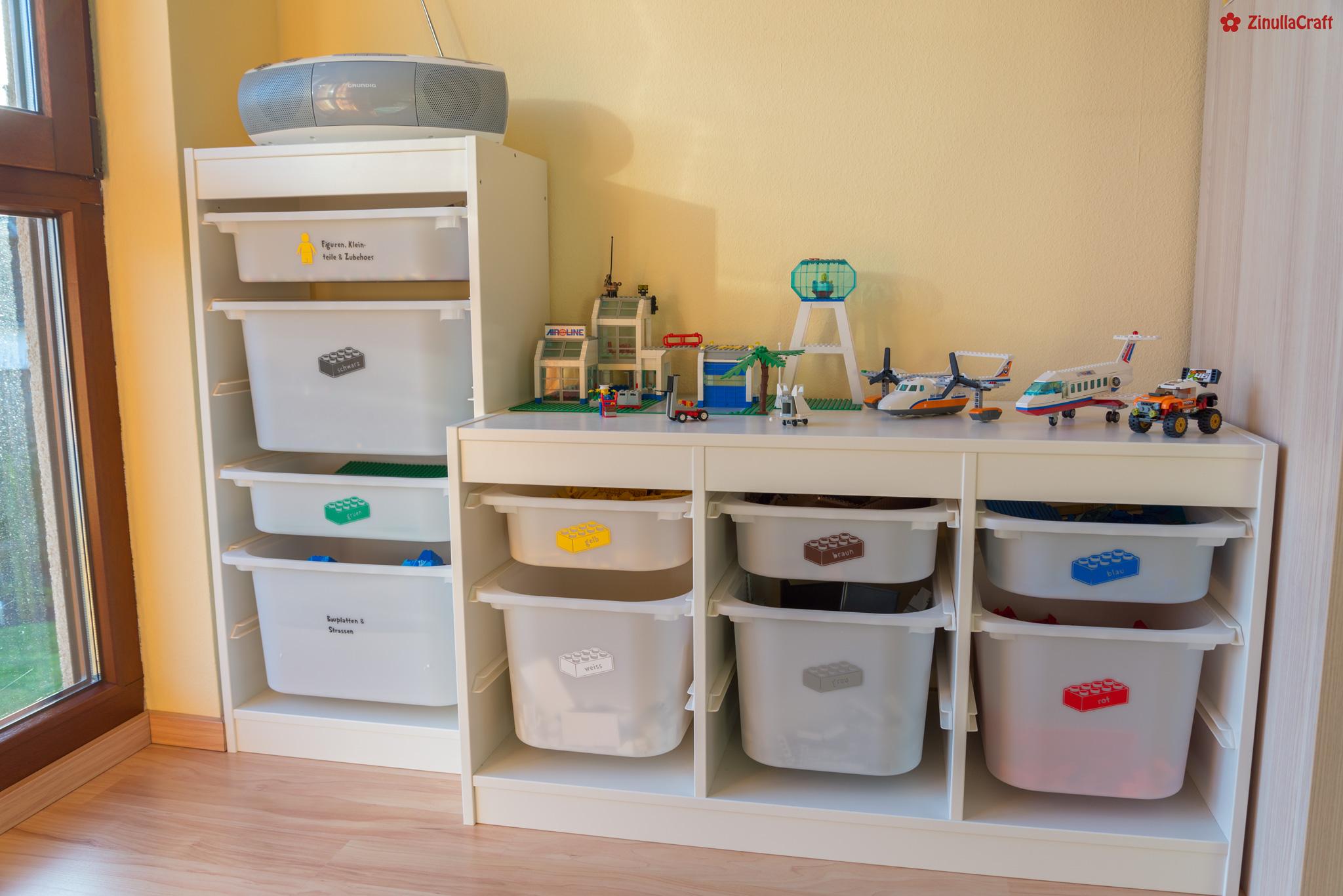 Lego Bausteine auf Ikea Trofast als Plotter Freebie