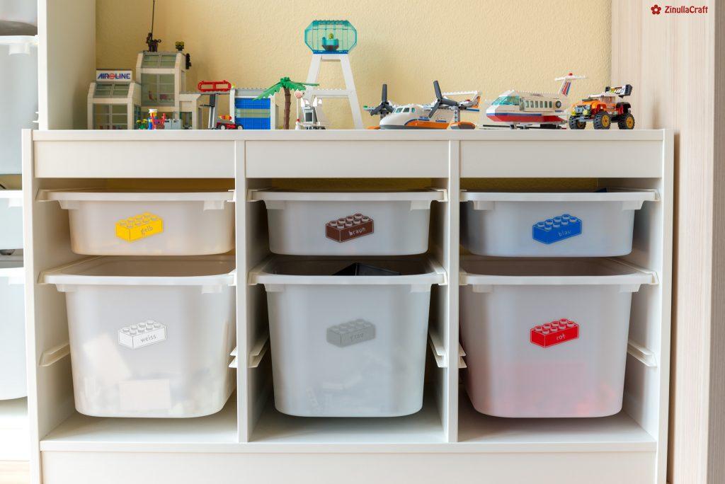 Mit dem Plotter ein einfaches Ikea-Trofast zum Legoregal gemacht