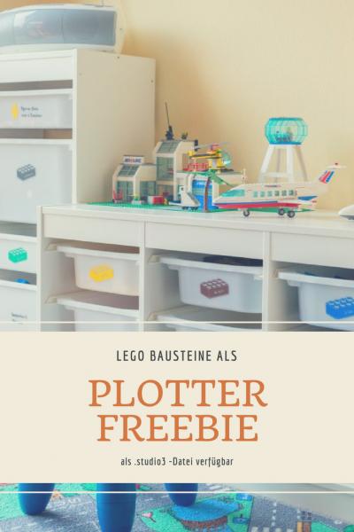 Lego Bausteine als Plotter Freebie (studio3 - Datei) für Silhouette Studio