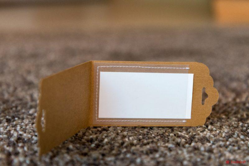 Kofferanhänger mit Klarsichtfolie aus SnapPap