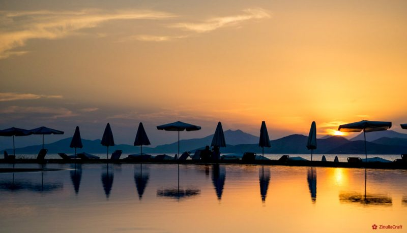Sonnenuntergang im Hotel Astir Odysseus