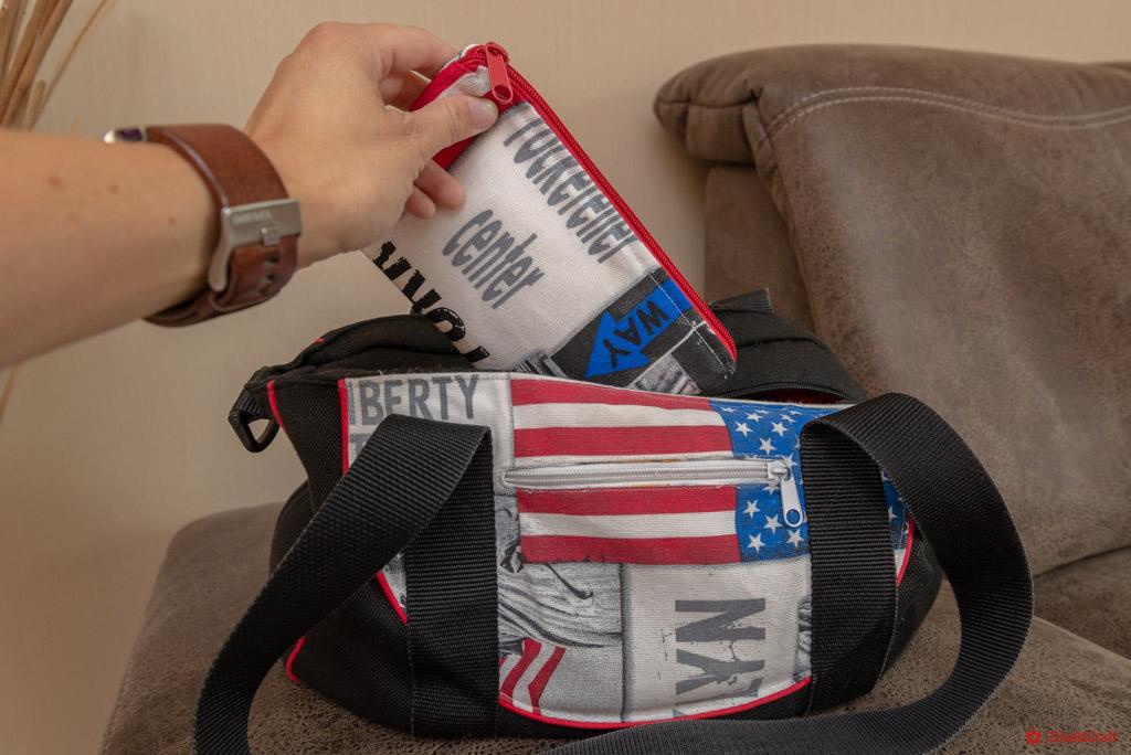 "Schminktasche ""USA"" - in Handtasche"